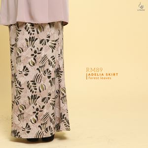 Adelia Skirt Printed : Forest Leaves