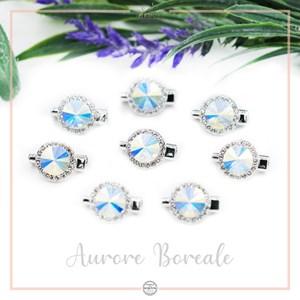 Brooch Rivoli Luxe Crystal Aurore Boreale
