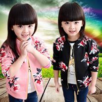 PREORDER  BB185 GIRLS CHILDREN JACKET ( SZ 100-140 ) ETA EARLY MAY'18