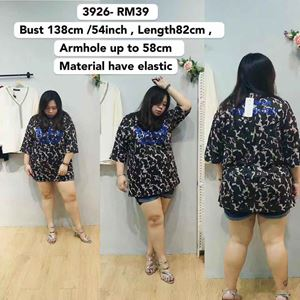3926 Ready Stock *Bust 54 inch/ 138cm