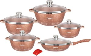 DESSINI 12PCS CASSEROLE COOKWARE