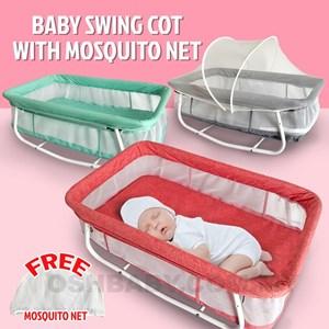 BABY SWING COT WITH MOSQUITO NET ETA 2 OCT 20