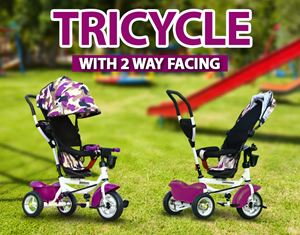 TRICYCLE WITH 2 WAY FACING