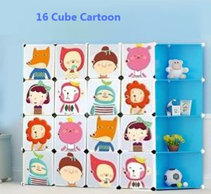 Cartoon 16cube Diy wardrobe Biru Corner
