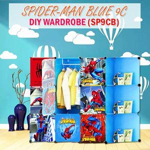 Spider-Man Blue 9C Diy Wardrobe w Corner Rack (SP9CB)