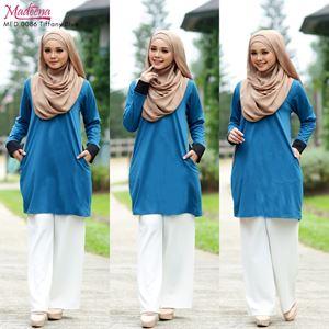 Madeena MED 0086 Nursing Shirt (Nursing Button)  Tiffany Blue