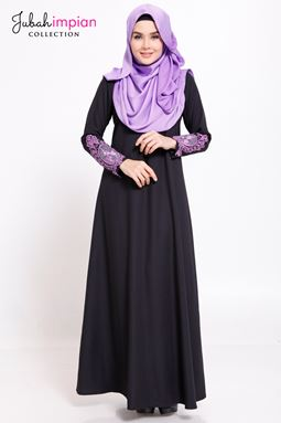 JUBAH ABAYA JAMEELA (Lace Purple )