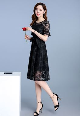 Flower Lace Bow Dress