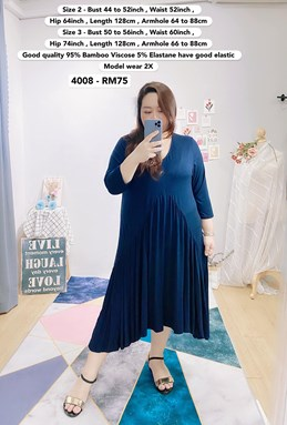 4008 *Bust 44 to 56 inch/ 112 - 142cm