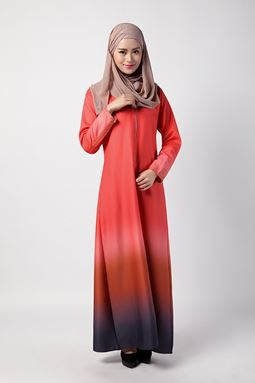 BELOW COST CLEARANCE ~Amber Long Dress (Orange)