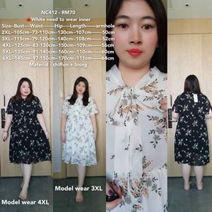 NC412  Ready Stock  *Bust 41 to 57 inch/ 105-145cm