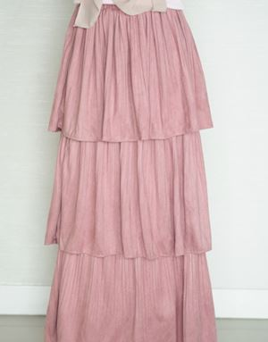 ADREA LAYERED SKIRT IN BLUSH