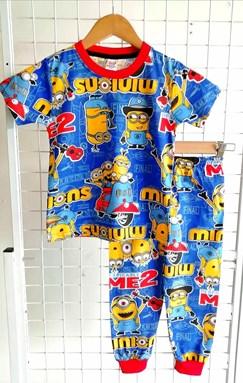 Pyjamas MINION ME 2 BLUE :  BIG Size 12 -18 (MF)