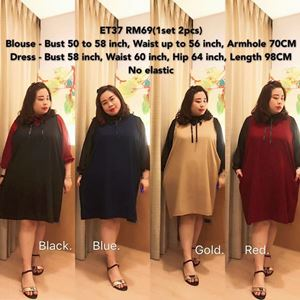 ET37 *Ready Stock *Bust 50 to 58inch/127-147cm