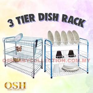 3 TIER STEEL DISH RACK