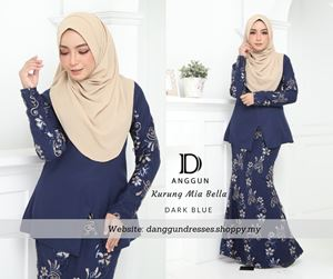 Kurung Mia Bella Dark Blue