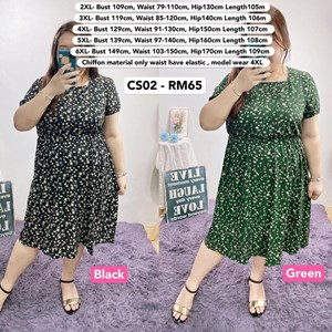 CS02 Ready Stock *Bust 40 to 59 inch/ 100-150cm
