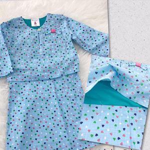 Jolly Baby Blue Baju Kurung Baby ( One-Piece)