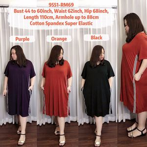 9551 Ready Stock *Bust 44 to 60 inch/ 111-152cm