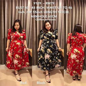 9129 *Ready Stock* Bust 40 to 48inch / 102-121cm