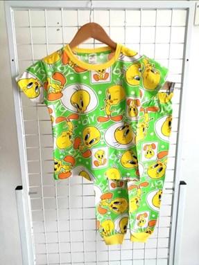 Pyjamas TWEETY BIRD GREEN : KIDS size 2