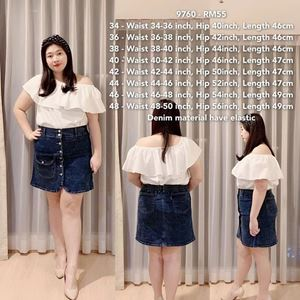 9760 Ready Stock *Waist 34 to 50 inch/ 87-127cm