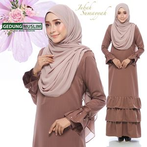 JUBAH SUMAYYAH - PASTEL BROWN  COLOR