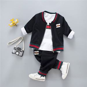 KOREAN BOY SET 11 ( 3pcs set Jacket+Long Sleeves Shirt+Pants)
