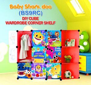 Baby Shark Doo RED 9C DIY WARDROBE w CORNER RACK (BS9RC)