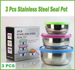 3 Pcs Stainless Steel Seal Pot