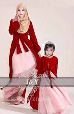 J & Y FAMILY SET  J073 ( GIRL)  MERAH