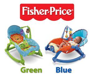 FISHER PRICE GREEN & BLUE ROCKER