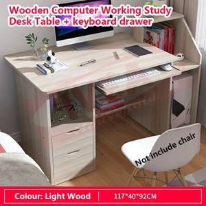 Wooden Table /Meja kayu Tulis Berwarna / Meja / Komputer Table/ Table/ Desk/ Office Table/ Study Meja