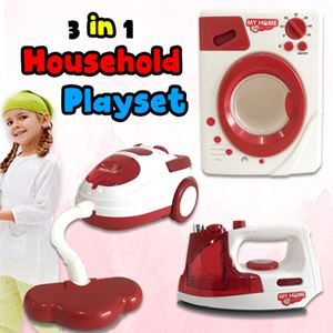 3 IN 1 HOUSEHOLD PLAYSET