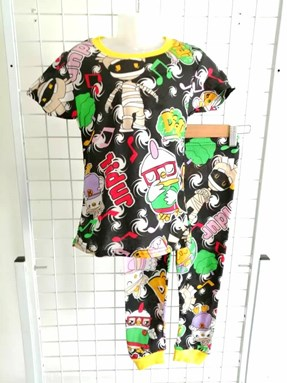 Pyjamas DIDI AND FRIENDS BLACK:  BIG Size 12 -18