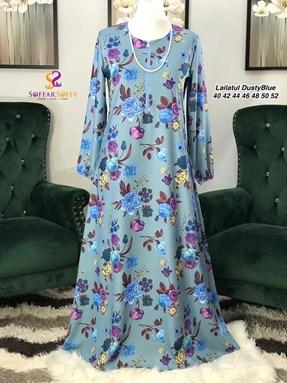 JUBAH DRESS LAILATUL DUSTY BLUE