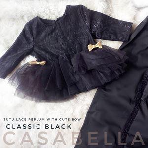 TUTU LACE CASABELLA PEPLUM ( BLACK )