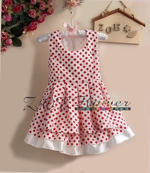 MOTHERCARE DRESS ~ RED POLKADOT