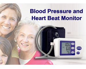 LCD Digital Upper Arm Blood Pressure and Heart Beat Automatic Monitor