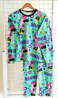 SIZE 2XL DEWASA Pyjamas MINNIE STAR LOVE MINT (GL)