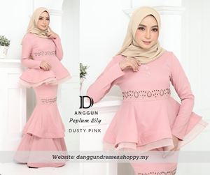 Peplum Lily Dusty Pink