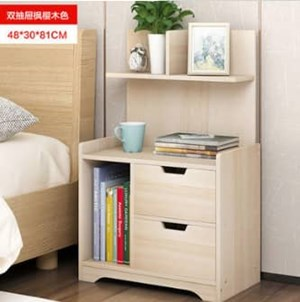 Modern Style Bedside storage Table With Shelf Night Stand Books Sundries Cabinet Bedroom Furniture (size 48x30x81)