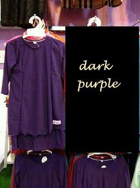 Kids Kurung Arrini (Dark Purple)