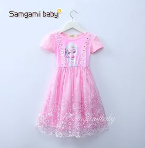 @  SAMGAMI DRESS 014 - FROZEN PINK.  ( SZ 100-140 )