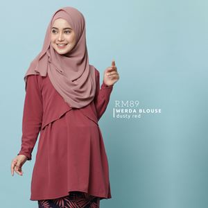 Werda Blouse : Dusty Red