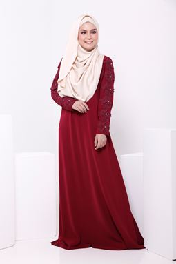 Jubah Rosemaria 3D Lacey Rosy