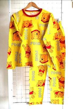 Pyjamas POOH DANCING YELLOW : Size DEWASA M - 4XL (GL)