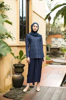 Salmah Kurung (Dark Blue)