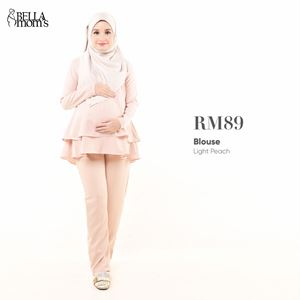 BELLA MOM'S BLOUSE (LIGHT PEACH)