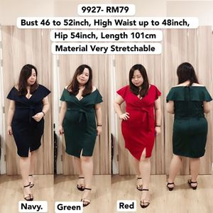 9927  *Ready Stock *Bust 46 to 52inch/ 117-132cm